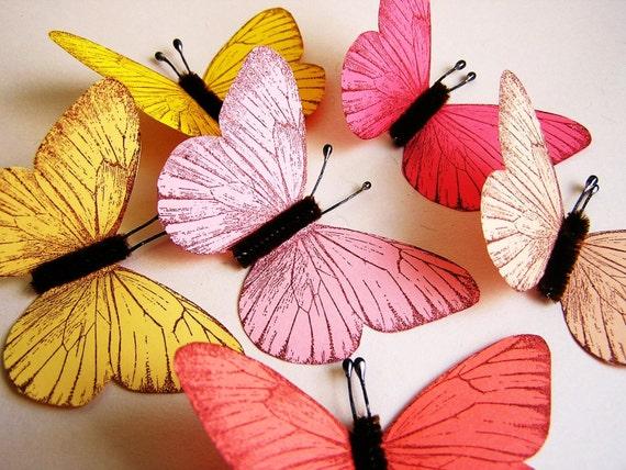 Sorbet Sampler/ Chocolate Vintage style classic Butterflies