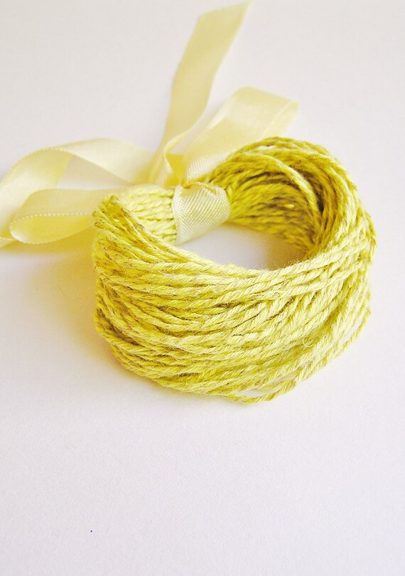 Lemongrass Hemp and Cotton twist parcel twine -10 yds