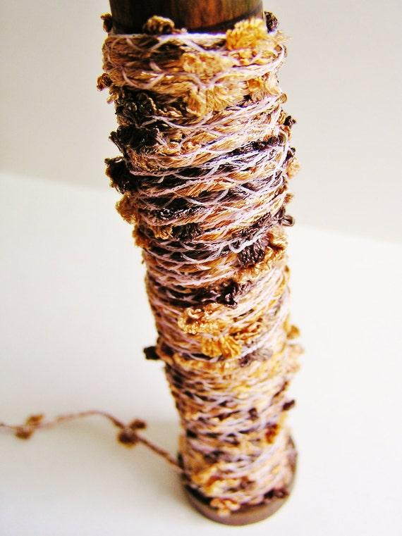 Cappuccino Bowtie trim lovely fringe Italian ribbon passementarie embellishment - wedding, holiday, wrap, craft, supply - 3 yards