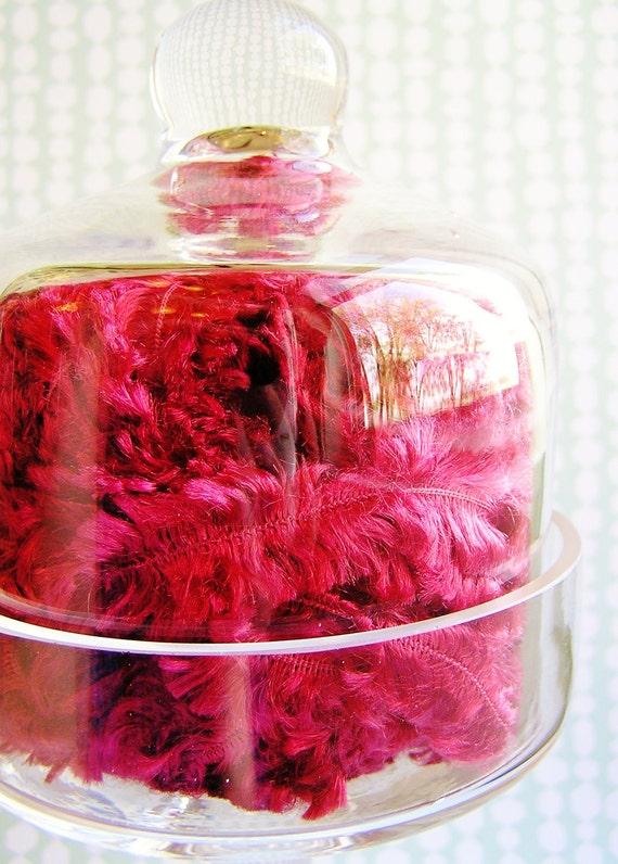 Raspberry herringbone Fringe trim embellishment - luxe, holiday, party, scrapbook, novelty, wedding, wrap, craft, supply - 5 yards