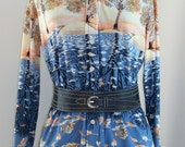 RESERVED FOR DIANE Vintage Incredible Novelty Print Shirt with Koi Fish and Autumn and Winter Trees Reflected in a Pond