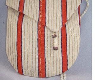 Aso-Oke Royalty U- Bags - Orange