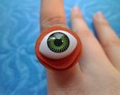 Gothic Monster Eyeball Ring