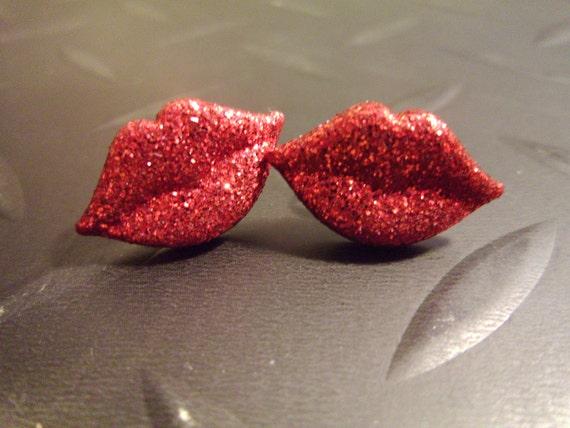 Rocky Horror Red Hot Kisses Earrings