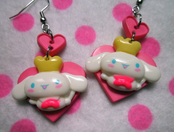 RESERVED Sanrio Cinnamoroll Heart Button Earrings