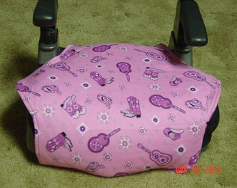 Pink western print  toddler booster seat cover