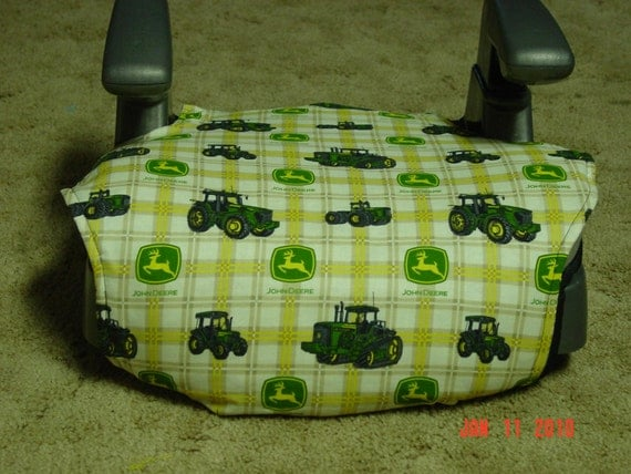 John Deere Car Seat Covers : Green john deere booster car seat cover