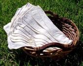 10 Natural or Organic Flannel Cloth Napkins - Unpaper Towels - Reusable Paper Towels - Unbleached Cotton Flannel - Eco Friendly Paperless