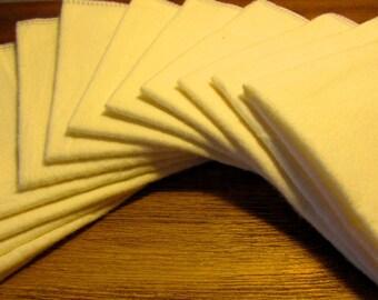 Cloth Paper Towels - Unpaper Towels - Cloth Napkins - Vanilla - 10 x 12 Single Layer