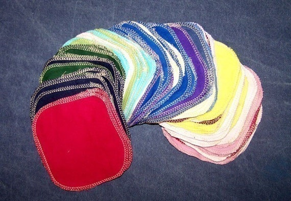 50 tiny rainbow cloth wipes to replace toilet paper - you can use for so many things