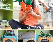 Grocery Story DIY Felt Food Tutorial- Pattern and Instructions Downloads INSTANTLY