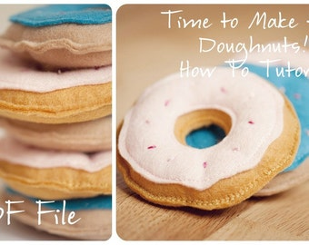 DIY Felt Doughnut Tutorial- Pattern and Instructions