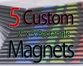 Custom Art Magnets - Rectangle - 5 Pack