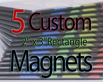 Custom Art Magnets - Rectangle - 5 Pack