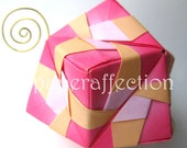 Origami Ornament - Dark Pink to Orange Modular, Medium
