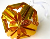 Origami Ornament - Gold Arabesque Large