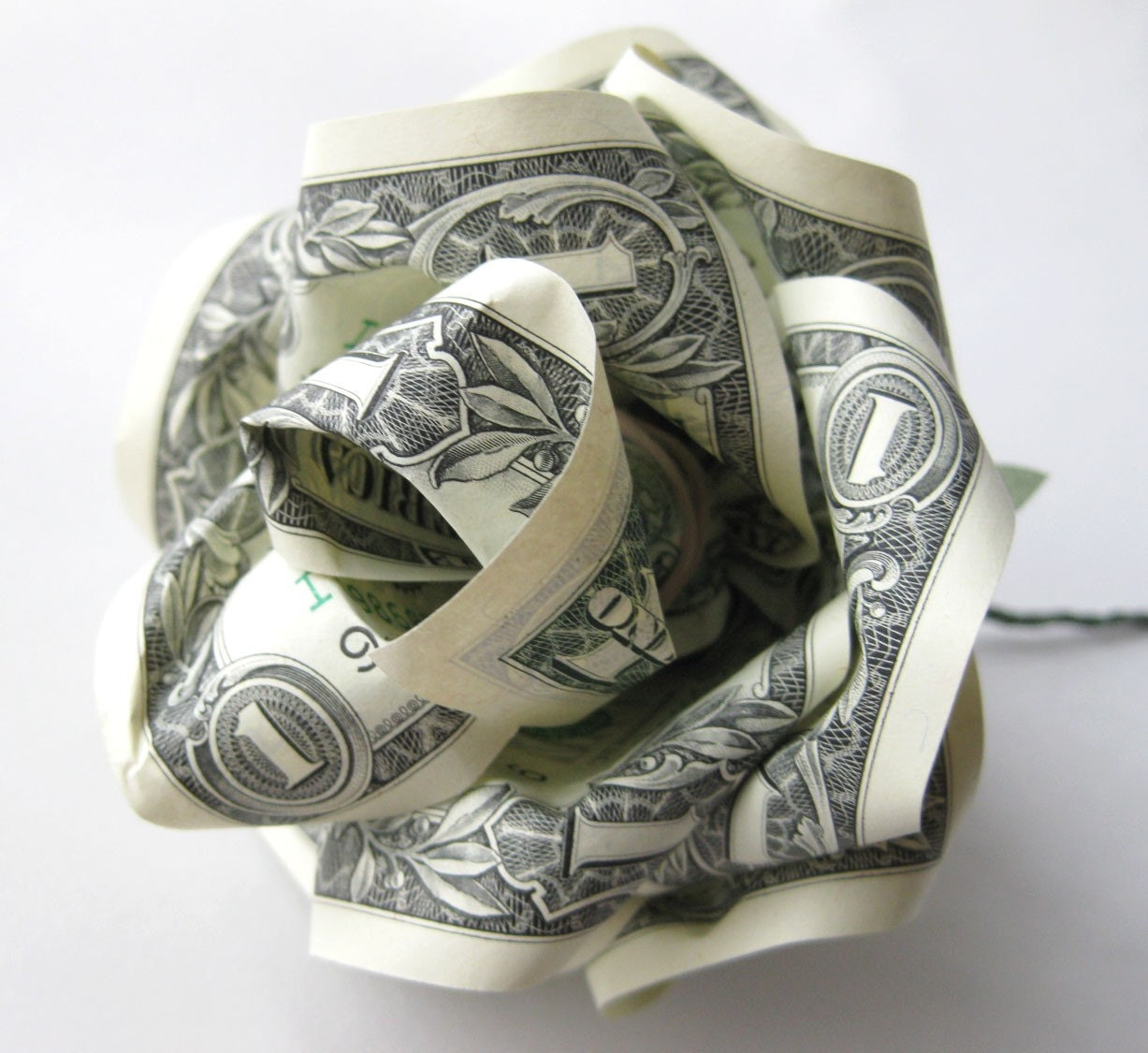 Easy Origami Flower From Dollar Bill