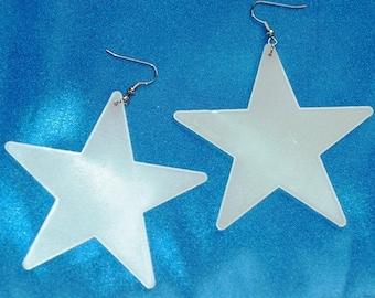 Glowing Star Earrings  Medium size