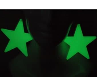 Glowing Star Earrings Large size