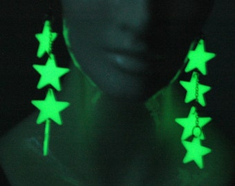 Glowing Star Dangle Earrings