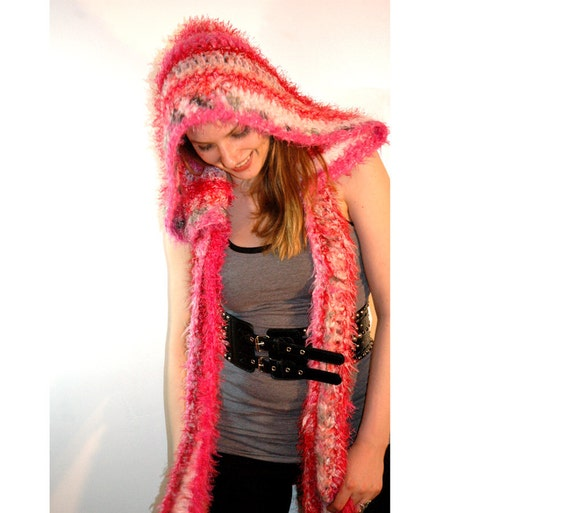 SALE Pink Victorian Style Skood/Shawl