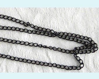 10ft of  Black Enamel  Curb Link Chain