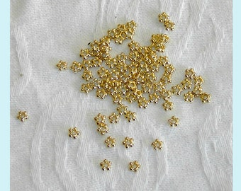 100 Pieces  Gold Color  Bead Spacers 4mm
