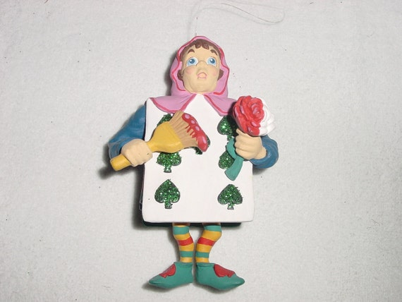 SALE - Department 56 Alice in Wonderland Seven of Spades Christmas Ornament
