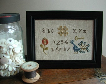 Primitive Cross Stitch Sampler Pattern My Little Sampler