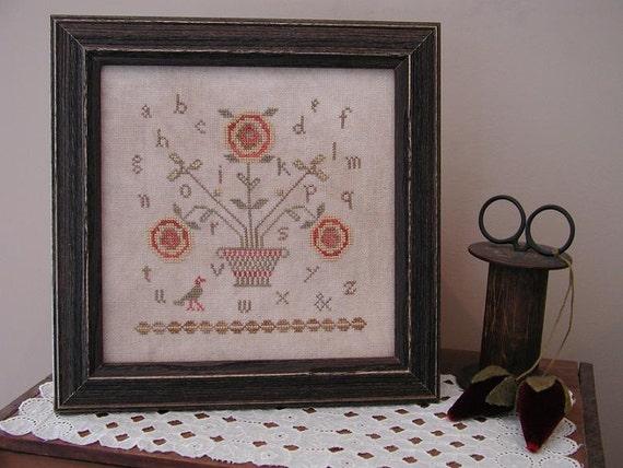 Primitive Cross Stitch Pattern - Cottage Charm Sampler