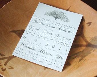 Savannah Live Oak Tree Wedding Invitations