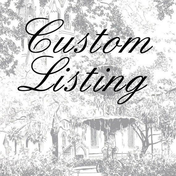 RESERVED FOR BETSY - Gift Certificate for Custom Pen & Ink Drawing