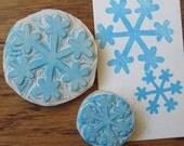Snowflake Stamp Set Hand Carved