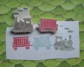Hand Carved Train Stamp Set