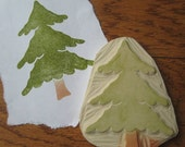 Hand Carved Fir Tree Stamp