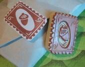 Acorn Stamp Hand Carved Rubber Stamp