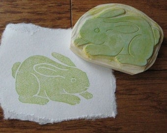 Hand Carved Bunny Rabbit stamp