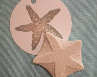 Hand Carved Starfish Stamp