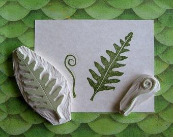 Hand Carved Fern Stamp Set