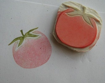 Hand Carved Tomato Stamp