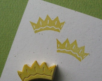 Hand Carved Tiny Crown Stamp
