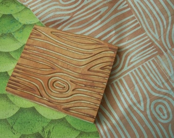 Woodgrain Hand Carved Stamp