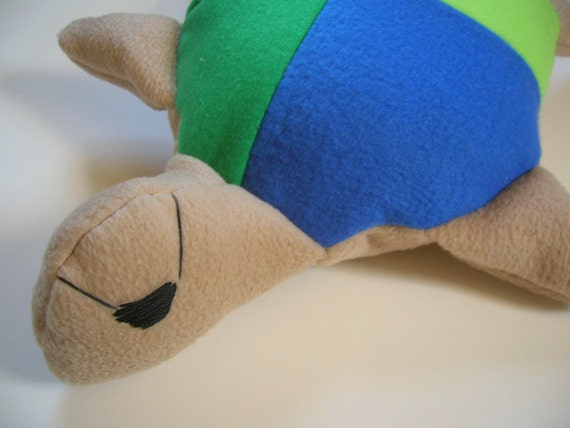 Clearance Sale Patchwork Turtle Pirate Plush in Soft Fleece On Sale