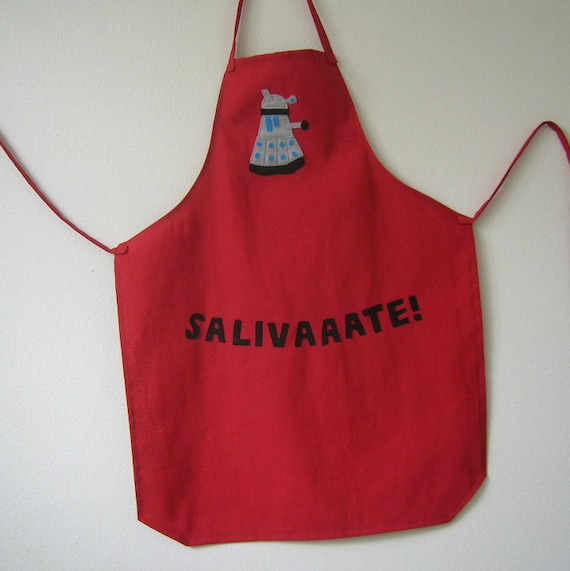 Red Dalek Apron - Get Your Nerd On