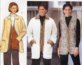 Butterick UNCUT PLUS SIZES Pattern 6346 - Misses/Misses Petite Jacket, Vest & Pants - 18-22