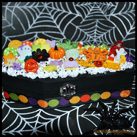 Halloween Coffin Deco Box