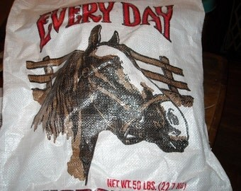8 Horse Feed Grain Bags  for Upcycling SALE