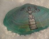 Minoan Snake Goddess Painted Shell