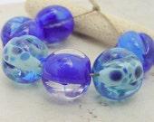 Lampwork Beads - Handmade Glass Beads - Blue