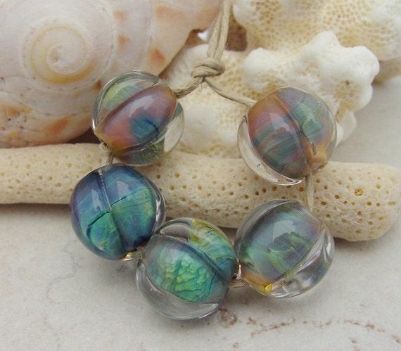 Lampwork Beads - Raku Handmade Glass Beads